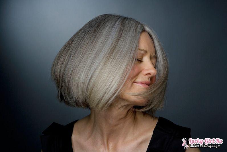Какой краской покрасить волосы седые