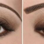 Как сделать естественный макияж для карих глаз
