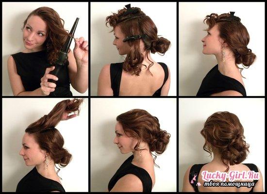 Причёска на работу на средние волосы своими руками