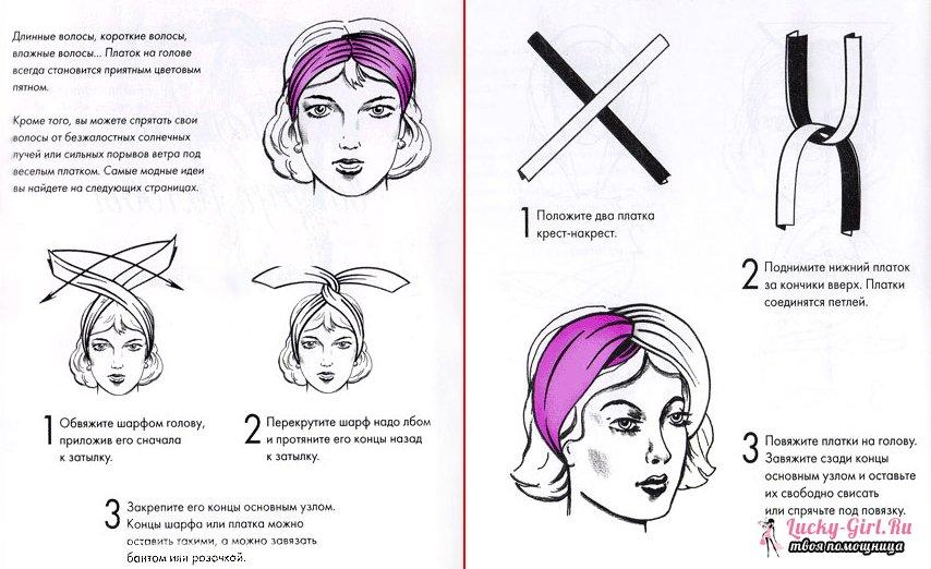 Как завязывать платок на голове: актуальные способы и простые советы
