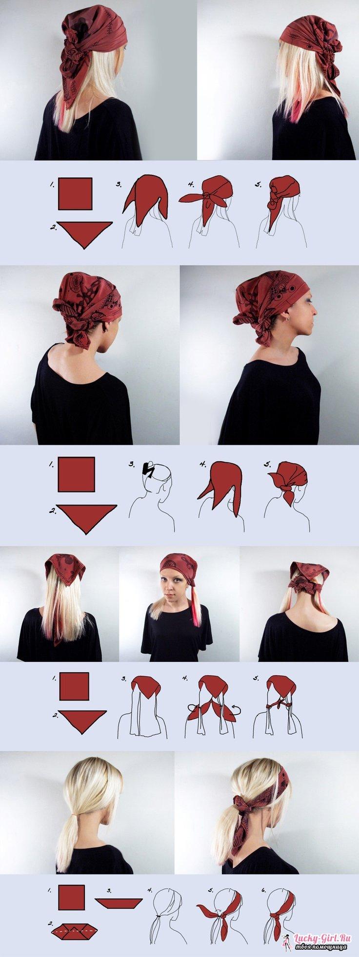 Как сделать из платка шарфик