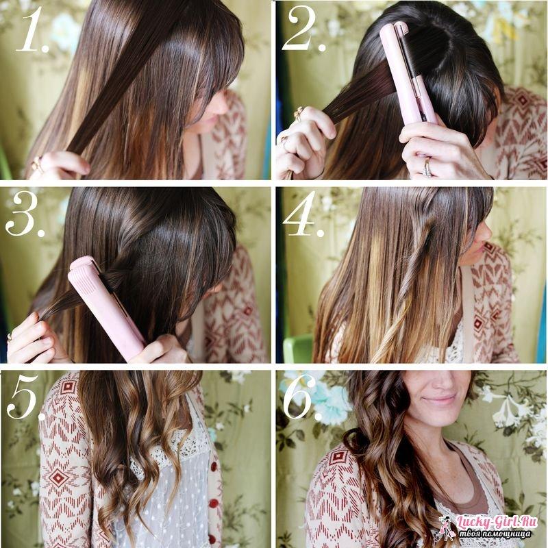 Волны на волосах средней длины