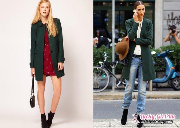 Зеленое пальто: с чем носить? С чем носить пальто кокон?