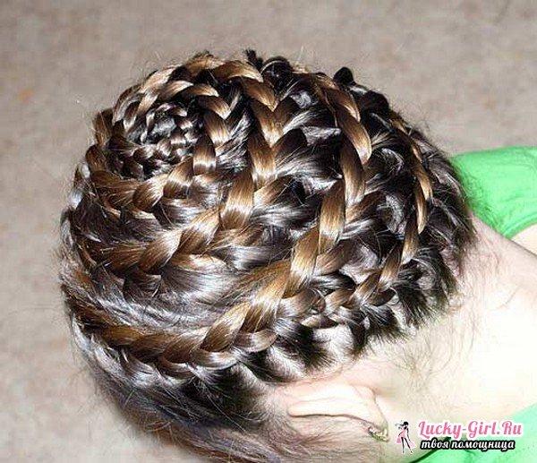 Как плести корзинку из волос? Плетение корзинки из волос: варианты прически и их описание