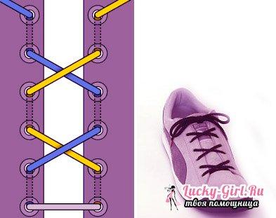Как прикольно завязать шнурки?