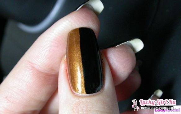 Как накрасить ногти двумя цветами?