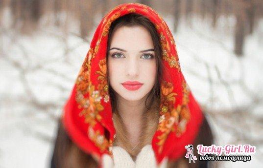 Как носить павлопосадские платки?