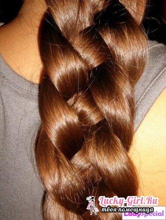 Как плести косы самой себе?