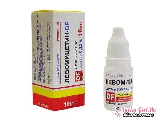Применение левомицитиновых глазных капель