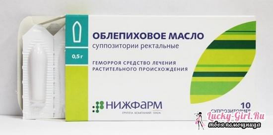 Облепиховые свечи: инструкция по применению и описание препарата