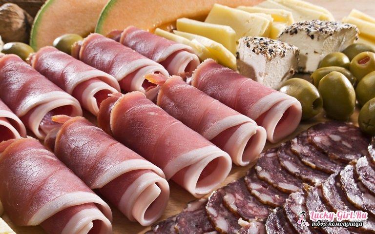 Нарезка колбасы и сыра красиво. Красивые нарезки на праздничный стол: с чем подавать?