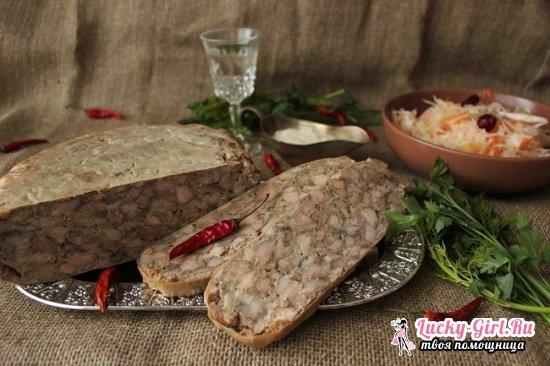 Зельц из свиной головы в домашних условиях: рецепты