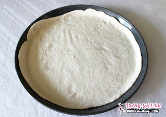 Дрожжевое тесто на пиццу на молоке