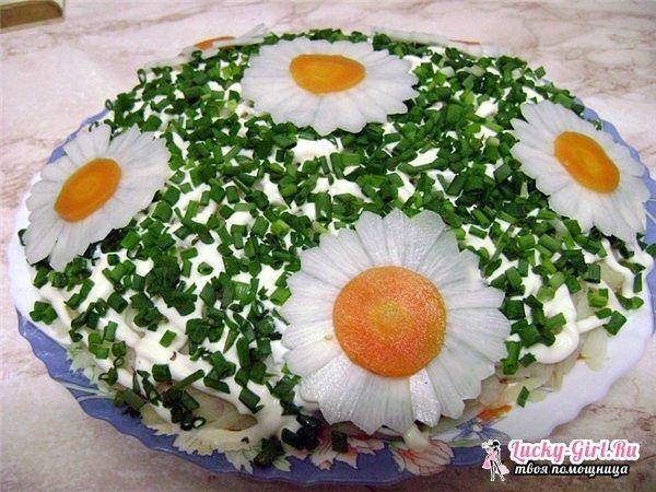 Как украсить красиво салаты пошагово