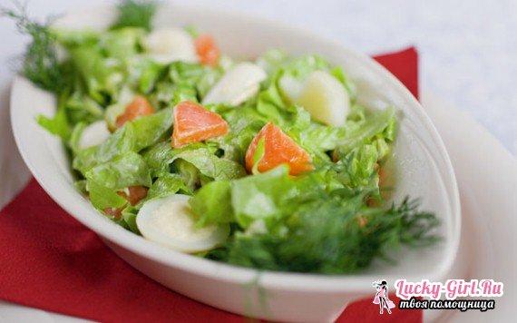 Салат из форели слабосоленой