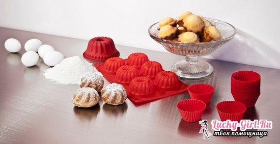 Кексы творожные: рецепты в силиконовых формочках