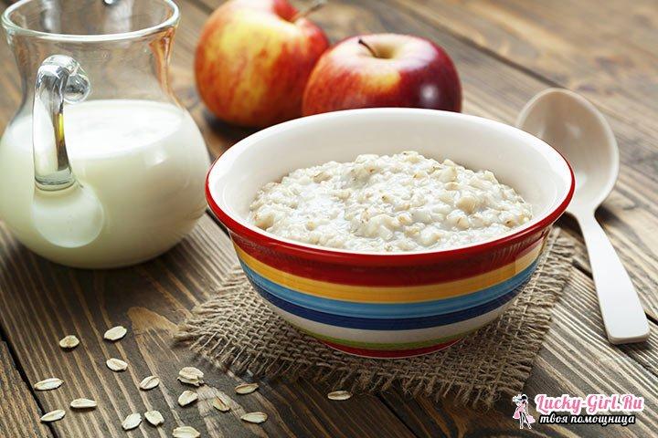 Рецепты каши геркулесовой на молоке