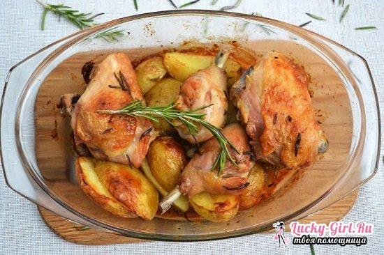 Курица с овощами в духовке в фольге и рукаве