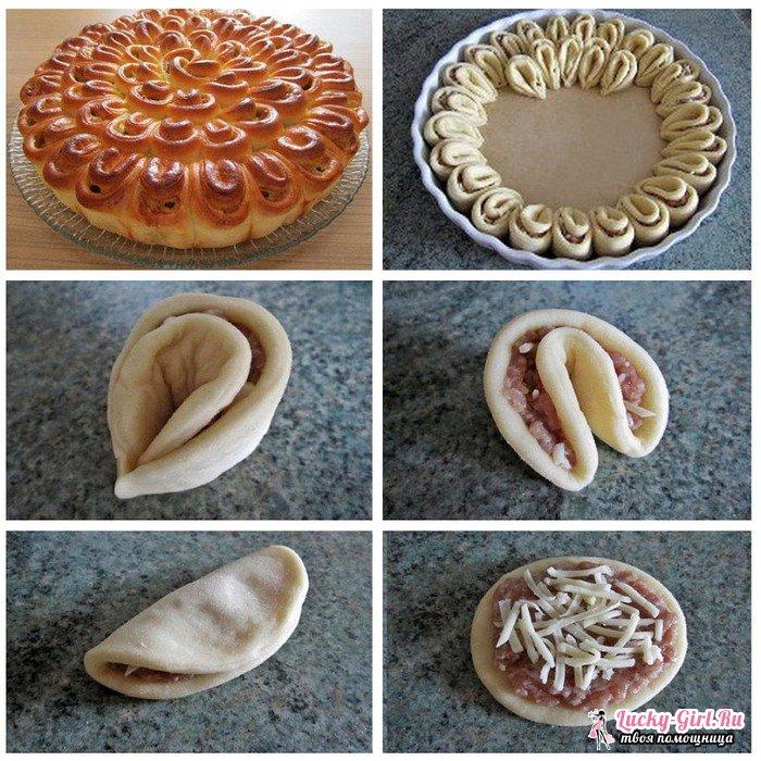 Пирог хризантема: 3 варианта рецепта с начинками на выбор