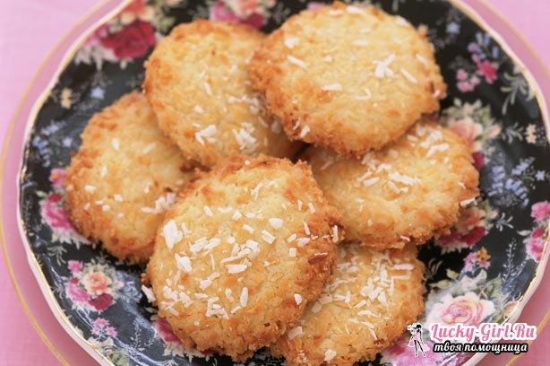 Кокосовое печенье: рецепты. Как приготовить печенье с кокосовой стружкой?