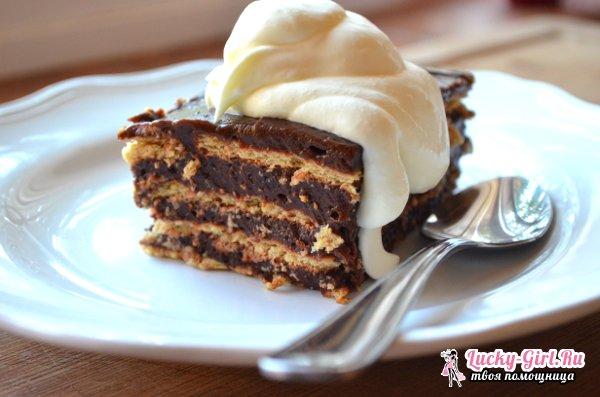 Торт из печенья без выпечки. Классические рецепты и оригинальные варианты десертов