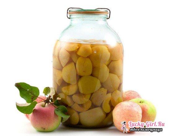 Рецепты компота из яблок на зиму