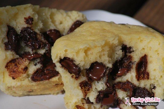 Шоколадные маффины: рецепты. Маффины с жидкой начинкой: как приготовить?