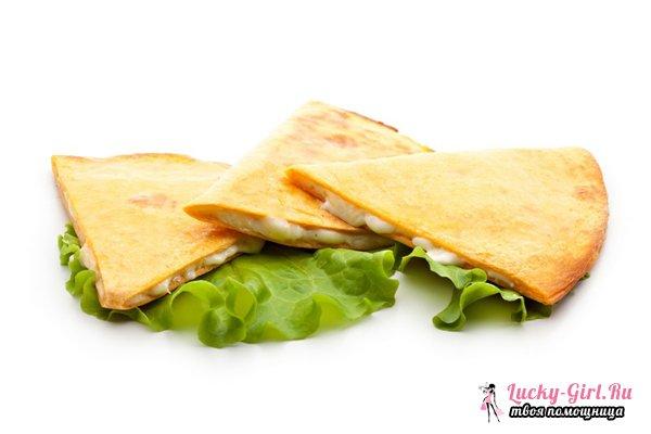 Кесадилья: рецепт. Классический вариант и оригинальные рецепты блюда
