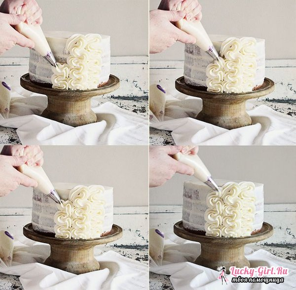 Украшение тортов кремом. Правила приготовления кремов и способы украшения