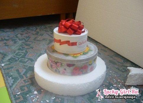 Торт из конфет своими руками. Оригинальный подарок своими руками