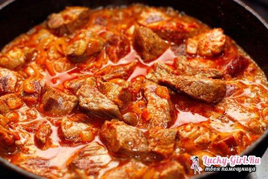 Тушеная говядина с подливкой, вкусный гуляш из говядины с подливкой  рецепты с фото