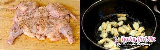 Лучшие рецепты приготовления цыпленка табака на сковороде под прессом