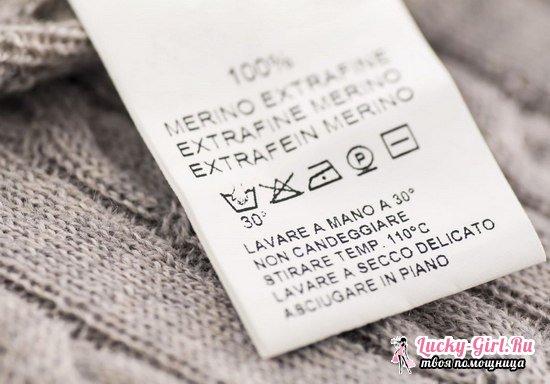 Расшифровка значков стирки на одежде