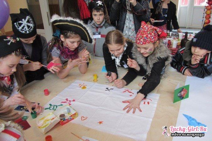 Сценарий пиратской вечеринки для детей. Оформление помещения, одежда, угощение и конкурсы для вечеринки