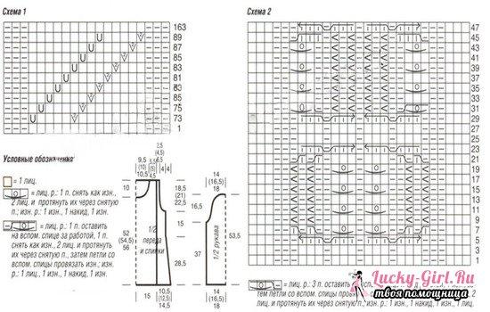 Вязаный женский свитер спицами: схемы с описанием