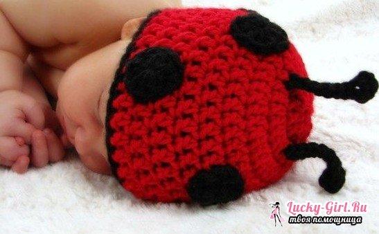 Вязаные шапочки для новорожденных: схемы с описанием