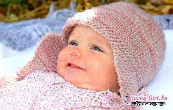 Вязаная шапочка для новорожденного спицами: схемы