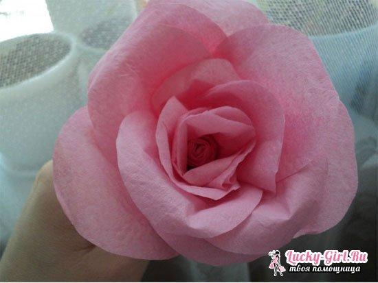 Как сделать розу из салфетки?