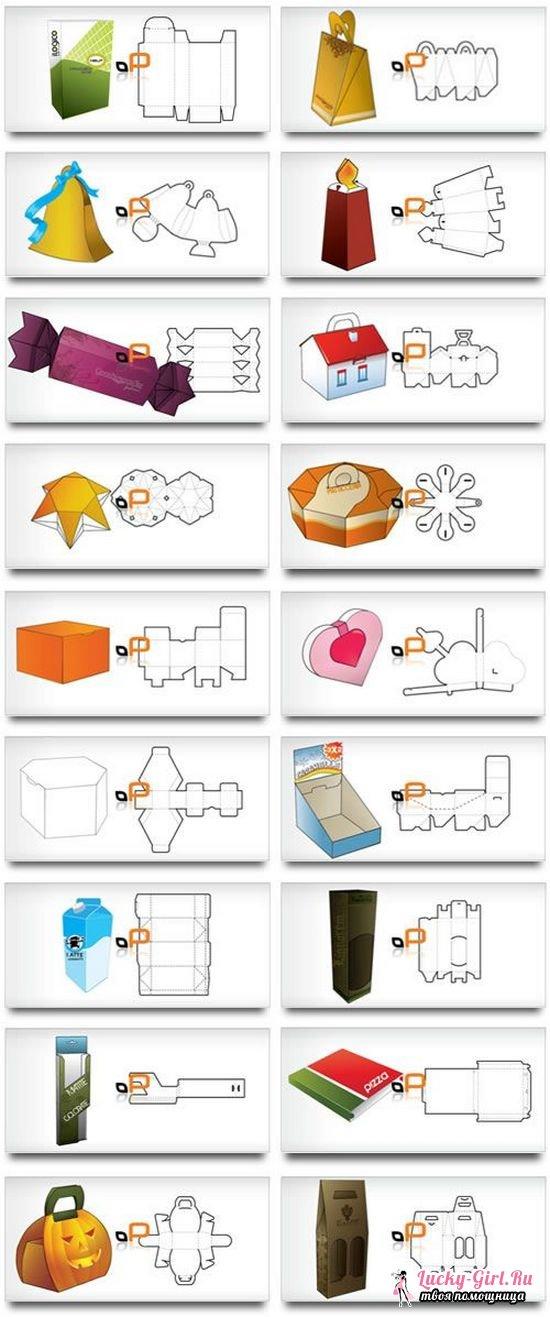 Как сделать коробочку из картона?