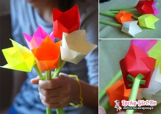 Как из бумаги сделать тюльпан?