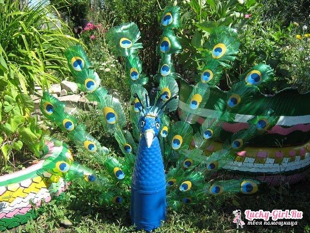 Оригинальное украшение павлин из пластиковых бутылок: как сделать самостоятельно?