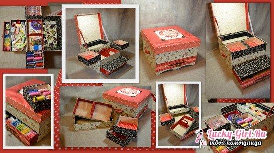 Картонаж: мастер-класс по созданию коробки для хранения вещей