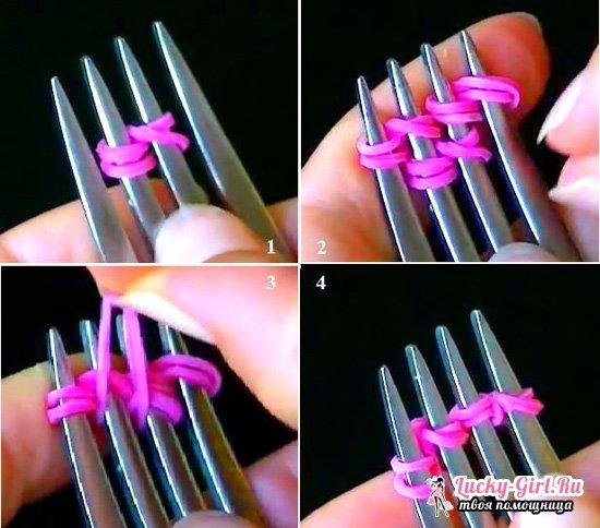 Как сплести браслет из резинок без станка? Простые, но красивые браслеты из резинок на пальцах