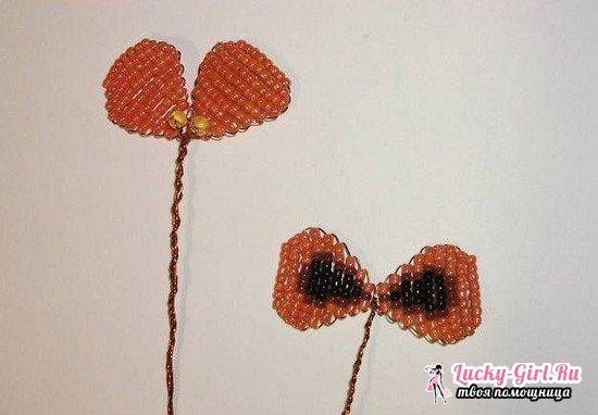 Анютины глазки из бисера: схемы плетения, мастер класс с пошаговым фото