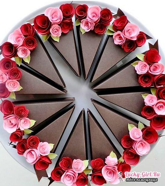 Как сделать торт из бумаги своими руками: мастер классы