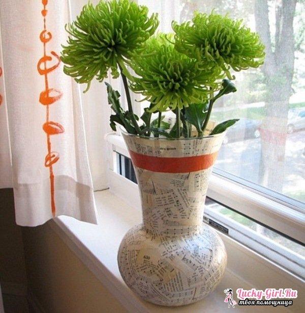 Декупаж вазы: варианты оформления в различных стилях