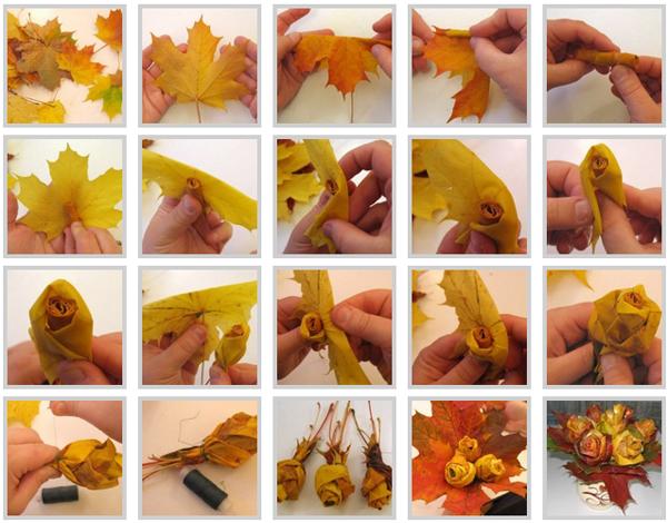 Поделки из листьев своими руками. Фото и способы выполнения