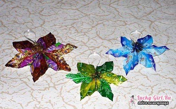Поделки из фантиков от конфет. Что можно сделать из фантиков?