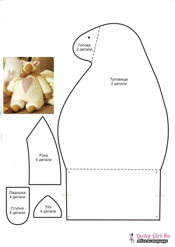 Овечка тильда: мастер класс. Выкройки, описание работы с фото поделки