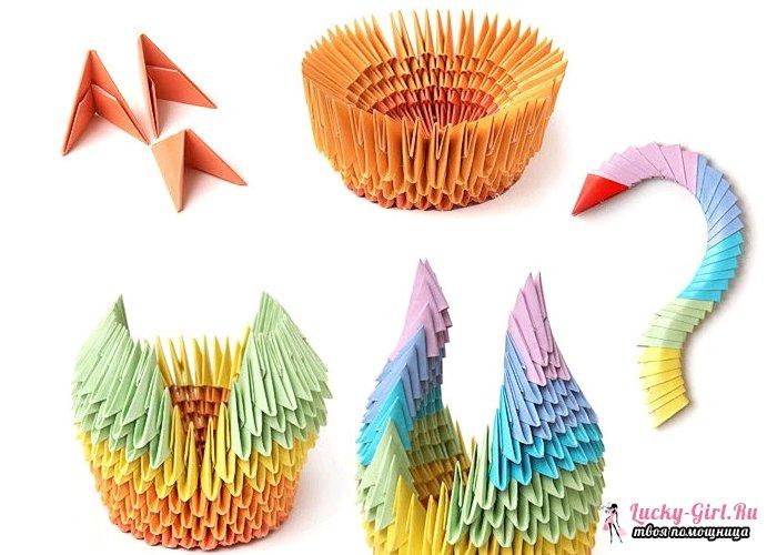 Оригами из треугольных модулей. Подготовка базовых элементов и интересные схемы поделок